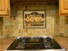 Mural Tiles For Kitchen Decor Decorative tile backsplash Kitchen tile ideas Sunflower Basket 10