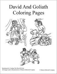 David And Goliath Coloring Pages Crafting The Word Of God