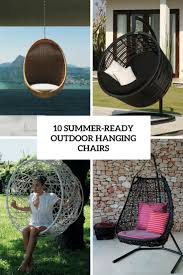 outdoor hanging furniture. 10 Summer-Ready Outdoor Hanging Chairs Furniture