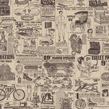 Old News | Custom vintage retro wallpaper