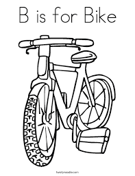 Small Picture B is for Bike Coloring Page Twisty Noodle