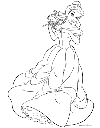 Small Picture Beauty and the Beast Coloring Pages 3 Disney Coloring Book