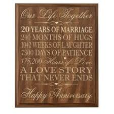 amazon 20th wedding anniversary wall plaque gifts for couple 20th anniversary gifts
