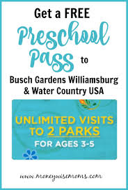 busch gardens preschool pass 2018 free for kids 3 5 busch gardens williamsburg preschool