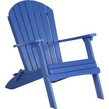 poly folding adirondack chair blue