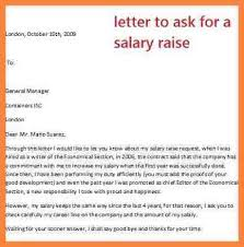 ask for a raise letter salary increase request sample letter salary increase letter