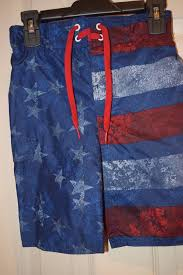 Joe Boxer Size Chart Details About American Flag Swim Trunks Usa Board Shorts