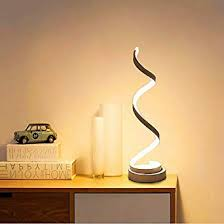 ELINKUME Spiral <b>LED</b> Table <b>Lamp</b>, Dimmable Curved <b>LED Desk</b> ...