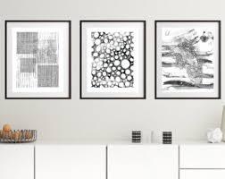 black framed wall art set
