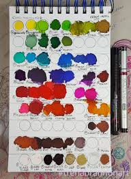65 Faithful Ranger Alcohol Ink Color Chart