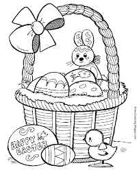 Small Picture Easter coloring pages Basket and Easter Eggs My coloring