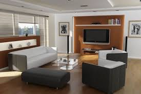 wall units living room. Living Room With Large Wall Divider Has Modern Units In Broken Orange Tone