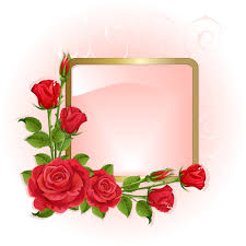 Red Photo Frames Red Peonies Photo Frame Vector Free Download