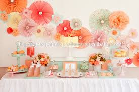 pink hanging tissue paper fans diy backdrop tissue paper fans baby shower party ideas hanging birthday