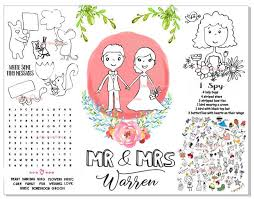 Wedding Coloring Pages For Kids Personalized Kids Coloring Etsy