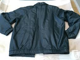 preston york dark green leather jacket men s