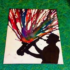 playing with all your heart melted crayon art