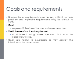 Statement of user requirements