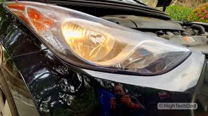 Hyundai I30 Side Light Bulb Replacement Video How To Replace Headlight Bulbs On 2013 Hyundai