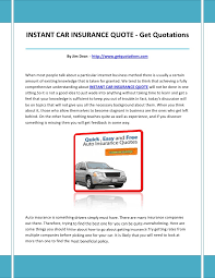 Instant Car Insurance Quote Amazing Instant Car Insurance Quote