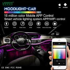 App Controlled Interior Car Lights Moodlight Car Smart Mobile App Control Car Interior Led Light Kit 12v Rgb Atmosphere Interior Car Accessories Lamp Kit B Buy Car Interior Led Car