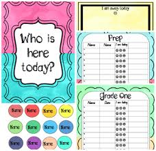 Who Is Here Today Chart And Sign On Sheets Editable