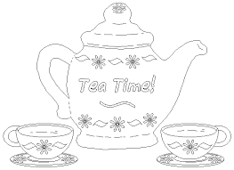 Small Picture Teapot Coloring Page