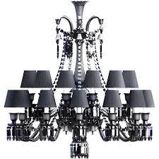 zenith chandelier 24l black crystal