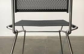 vintage postmodern metal side chair by