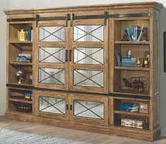 annapolis vine weathered ash sliding door entertainment wall from parker house coleman furniture