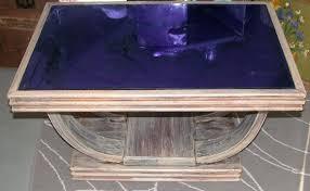 art deco blue glass coffee table coffee table height metric