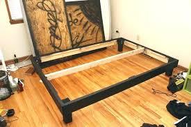 raised platform bed frame high diy