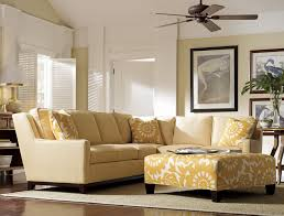 Ikat Ottoman Coffee Table Yellow Coffee Table Warm Yellow Round Cushioned Ottoman Stands At