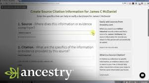 Crafting Source Citations In Your Ancestry Tree Ancestry