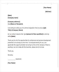 Formal Letter Of Resignation Extraordinary 48 Simple Resignation Letter Samples Free Premium Templates