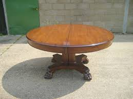 large antique round extending table large georgian manner 5ft round pedestal dining table extending to