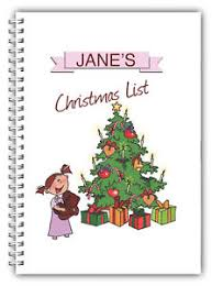 Blank Christmas List Details About A5 Personalised Christmas Notebook Note Pad Blank Christmas Present Gift 02