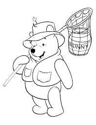 Winnie The Pooh Summer Coloring Pages Print Coloring