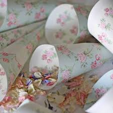 paper cones wedding. pretty floral paper confetti cones \u2013 set of 10 wedding t
