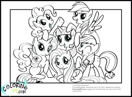 Christmas Printable Coloring My Little Pony Coloring Pages Printable