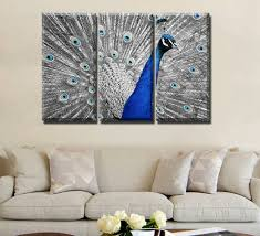 Peacock Living Room Decor Peacock Canvas Paintings Promotion Shop For Promotional Peacock