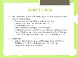 how to ask employer for letter of recommendation for grad school how to request a letter of recommendation ppt video online