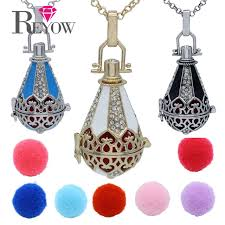 aromatherapy essential oil diffuser jewelry waterdrop microphone hollow cage locket openable pendant necklace 7 colors