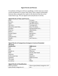 transition words and phrases signal words and phrases in academic writing as well as in