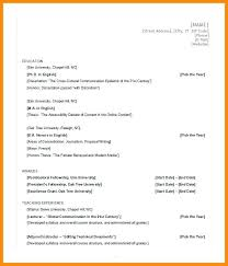 Resume Format In Microsoft Office Ms Word Free Download Template