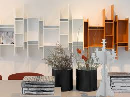 wall shelves for office. Wall Shelf With 5 Openings Contemporary Display And Shelves For Office