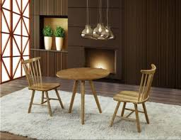 4 seat solid wood round top design cafe table