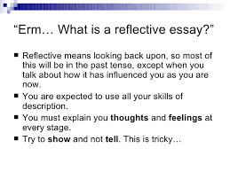 reflective essay examples writing a reflection org reflective essay examples university