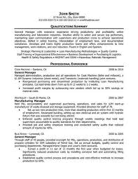General Operations Manager Resume Template Want It