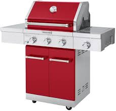 Interesting Kitchenaid 5 Burner Gas Grill Propane In Red With For Decorating